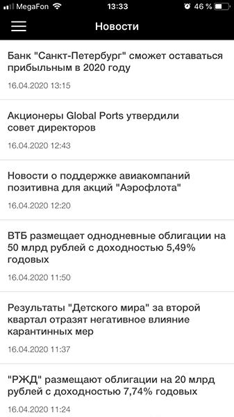 FinamTrade. Новости